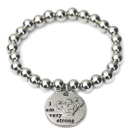 2019 mache perlen armbänder männer Modisches Edelstahlkugelarmband für Männer handgefertigte Bungee-Schnur-Perlenarmband rabatt mache perlen armbänder männer