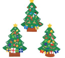 2020 decoração de feltro Estéreo tridimensional feltro Suspensos presentes Árvore de Natal DIY Porta parede Navidad enfeites de Ano Novo presentes de Natal Home Decor desconto decoração de feltro