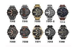 Argentina Venta caliente Deportes Relojes para hombre Gran Dial Pantalla Top Marca Reloj de lujo Reloj de cuarzo de cuero Banda de acero Relojes de moda Suministro