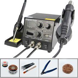 Arma de eletricidade on-line-GORDAK 868D temperatura constante Kit Heat Gun Eletricidade Station Desoldering ferro de solda de alta potência Mobile Phone Repair Tool