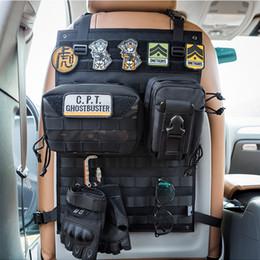 copertura del filatore Sconti neTigris Tactical Molle Organizer per auto Sedile Posteriore Seggiolino auto multiuso Supporto del pannello EDC Protector Adatto per tutte le auto OneTigris Tacti ...