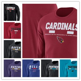 facturas de primavera Rebajas 2019 termal masculino Panthers Bills Ravens Cardinals Falcons Legend Staff Performance Camiseta de manga larga con cuello redondo