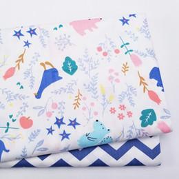 саржевые листы Скидка 100% Хлопок простыня Ткань Печатный Хлопок Twill Ткань для DIY шитья лоскутное полотно листовой ткани