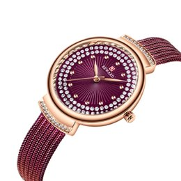 steel netting Coupons - HIGH-END DIAMOND-ENCRUSTED WOMEN'S WATCH MILANO NET USES THE CLASSIC MASTERPIECE OF THE LADIES WATCH TO MASTER THE EXQUISITE CRAFT MINERAL S