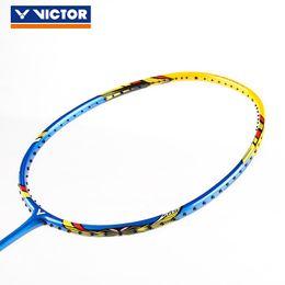 Бадминтон подарки онлайн-Подлинная Виктор высокого напряжения TK 220H Бадминтон ракетка самые высокие 36 фунтов Бадминтон ракетки с бесплатным подарком