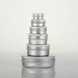 Lippentöpfe online-Leere Aluminium Cremetopf Dose 5 10 15 30 50 ml kosmetische Lippenbalsam Container Nagel Derocation Handwerk Topf Flasche