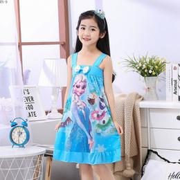 170f9ed4c2 Niñas princesa camisones de verano para niños camisón de manga corta de  dibujos animados ropa de dormir de los niños de dibujos animados ropa de  dormir 2019 ...