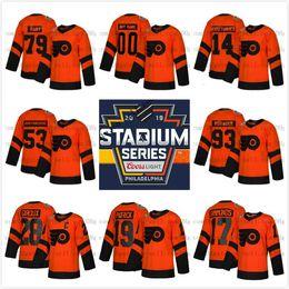 Custom 79 Carter Hart Philadelphia Flyers 2019 Stadium Series Men Lady Kids  28 Claude Giroux Wayne Simmonds Travis Konecny Provorov Jersey hockey jersey  ... dbd5f8039