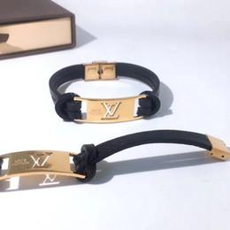 Europe 2019 Nouveau Créateur De Mode Bracelet En Cuir marque Louis Bracelets 19ss Hommes Femme Bracelet En Cuir Motif Bijoux Avec Boîte ? partir de fabricateur