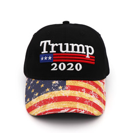Grands sports en Ligne-Broderie Trump 2020 Make America Great Again Donald Trump Casquettes de baseball Chapeaux Casquettes de baseball Adultes Sports Chapeau LJJM1885