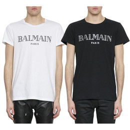 reds shirts Promo Codes - Balmain Mens T Shirts Designer Black White Red Yellow Mens Fashion Casual Clothes Designer T Shirts Top Short Sleeve S-XXL