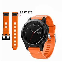 AMAZFEEL Genuine 26mm silicone alça de Pulso para Garmin Fenix 5x 5xplus Fenix 3 3HR liberação rápida de Alta qualidade pulseira de Relógio de