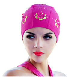 17d693d66eb New Womens Retro Summer Swimming Cap Flower Floral Hollow Bathing Hat Rose  Red