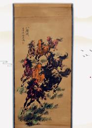 Xu beihong otto jun figura antica pittura cinese salotto decorazione finito inchiostro rotolo centrale otto ma tu pittura decorativa da yiwu star fornitori