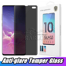 Rasguño de pantalla galaxy nota online-Privacidad Protector de pantalla 3D Funda curva Friendly Anti-Scratch 9H Dureza Película de vidrio templado para Samsung Galaxy S9 Plus S8 Nota 9 8 S7