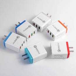 Canada Petit lot-Universel 18 W USB Charge rapide 3.0 5V 3A pour Iphone 7 8 EU Prise Téléphone Mobile Chargeur rapide charge pour Samsug s8 s9 Huawei cheap eu plug apple Offre