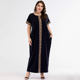 vestidos de meninas asiáticas Desconto Casual impressão maxi dress knitted muçulmano abaya completo skrit solto quimono longo robe vestidos ramadan médio oriente árabe islâmico clothing