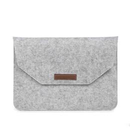pacote de lama Desconto Notebook Sleeve Bag Sentiu Smart Phone Mobile Capa Protetora Homens E Mulheres Bolsas De Armazenamento Portáteis Cinza Preto