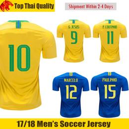 18 19 Brasil Camiseta de fútbol NEYMAR JR 2018 2019 MARCELO G.JESUS Brasil  COUTINHO Camiseta de fútbol PAULINHO FIRMINO Brasil WILLIAN Camiseta de  fútbol ... 96d9d48f6de0f