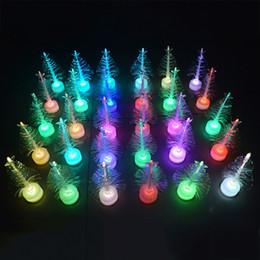 2020 оптоволоконная легкая игрушка LED 50 шт Light Изменение цвета Xmas Tree лампы Красочный Fiber Optic дерево интерьер украшение партии Luminous Рождественские игрушки T191022 скидка оптоволоконная легкая игрушка