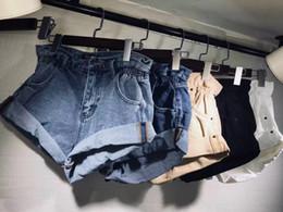 Jeans pour femmes Shorts en jean Femmes rouler pantalons à jambes larges été femmes femmes taille élastique poignets Jeans taille haute 2019 taille asiatique 5 couleurs ? partir de fabricateur