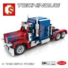 Modelos de camiones de juguete contenedor online-701803 849PCS de la serie Technic bloques de construcción de modelos pesados contenedores Camiones establecer edcation clásico modelo de bebé divertido de los juguetes
