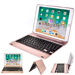 compresse della pelle chiara Sconti Flip Bluetooth Wireless Computer Tastiera Mini per telefono Tablet iPad iPhone Samsung IOS Android 9.7 Cover