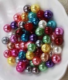 llavero redondo de acrílico al por mayor Rebajas 3000 unids / lote colores mezclados 4mm perlas de vidrio para joyas collar pulsera pendientes