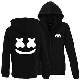 XS a 3XL más tamaño DJ Marshmello hombres sudaderas con capucha mujeres cremallera hip hop chaqueta con capucha abrigo chándal desde fabricantes