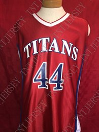 c37524b164e Cheap custom Vintage 1990s #44 TITANS Russell athletic College High School Stitched  Customize any name number MEN WOMEN YOUTH JERSEY XS-5XL