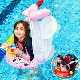 gli orsi della piscina Sconti Baby Cartoon Swimming Pool Anello Parasole Copertura di sicurezza Baby Brown Bear Cony Coniglio gonfiabile galleggiante Sedile regolabile Pool Pool Toy