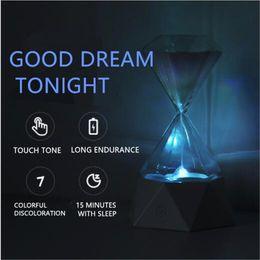 Créatif diamant sablier lampe anniversaire cadeau chambre atmosphère de chevet avec la lumière endormie chronométrage coloré lampe usb ? partir de fabricateur