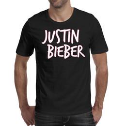 Justin Bieber Icon Pink camiseta negra, camisetas, camisetas, camisetas diseño de camisetas personalizadas amigos locos camiseta casual desde fabricantes