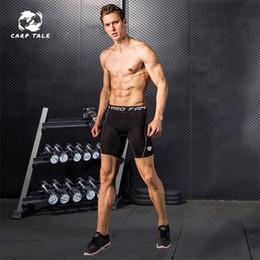 2019 тренировочные шорты для мужчин Мужские узкие тренировочные спортивные шорты для бега и фитнеса Увлажняющие потные и быстросохнущие баскетбольные компрессионные шорты дешево тренировочные шорты для мужчин