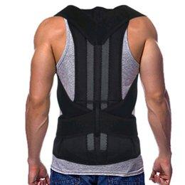 brace della cintura di correzione postura Sconti Regolabile Nero Posteriore Correttore Spalla Lombare Spina Brace Supporto Cintura Assistenza Sanitaria per Uomo Donna Unisex