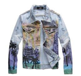 2020 herren-denim-bomberjacke Jeansjacken Motorrad Buchstabedrucken Jeansjacke hohe Modedesigner berühmt bomber Denim dünne Windjacke Herren Jeans Kleidung günstig herren-denim-bomberjacke