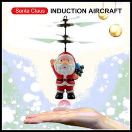 ovos da mosca Desconto Voar indutivo Hot Mini RC Drone Natal Papai Noel Indução Aircraft RC helicóptero para presentes de Natal para crianças