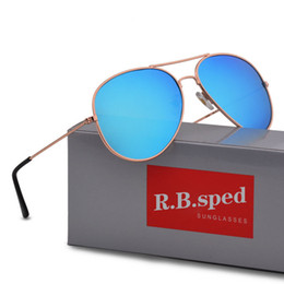 Lunettes de soleil polarisées en Ligne-Marque design Lunettes de soleil de pilote polarisées pour hommes femmes Mâle Lunettes de conduite Revêtement réfléchissant Lunettes Oculos gafas de sol avec boîte et étuis
