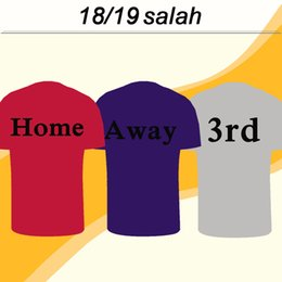 2018 19 M.SALAH Camisa de Futebol FIRMINO LALLANA SALAH Casa Red Away 3 Cinza Camisas De Futebol Dos Homens MATIP MANE STURRIDGE Uniformes de Manga Curta de