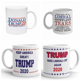 Große karikaturen online-Trump Kaffeetassen Handgriff- Ceramic Cup Cartoon Donald Trump Tassen Wasser Amerika Great Again Keramik-Becher GGA2715 Stellen