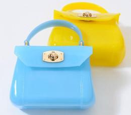 Princesa de goma online-Venta caliente nueva moda niños niñas jalea de color bolsos de cuero de rejilla de la vendimia mini bolsas para bebé niños princesa fiesta bolsa