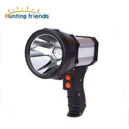 2019 lanterna tática usb Superbright Tactical Handheld Holofote Gun Lanterna Recarregável 18650 Bateria Incluído 3 modo com Luz Lateral Carregador de Energia USB lanterna tática usb barato