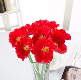 2019 decorazione candela rossa Nuovo bellissimo fiore artificiale per centrotavola da sposa Fiori decorativi per feste a casa con colori brillanti Spedizione gratuita