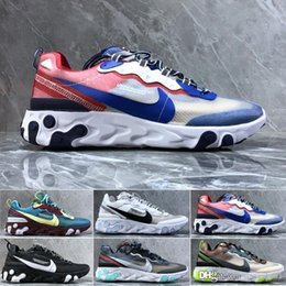 2019 scarpe da pallacanestro onemix nike Air max Epic React Element 87 React Element 87 Undercover Uomo Scarpe da corsa per donna Sneakers firmate Sport Scarpe da ginnastica per uomo Vela Light Bone Royal Tint SL4123