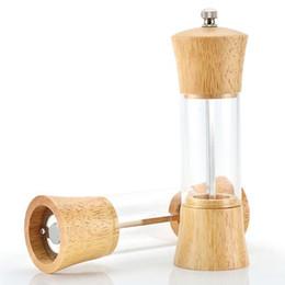 Smerigliatrice di legno online-Macinapepe manuale Pepper Spice Salt Mill Shaker Grinder Manuale Muller Utensile da cucina in legno spedizione gratuita