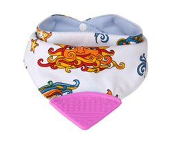 silicone pocket bibs Promo Codes - Baby Bib Pocket Bibs BPA Free Infant Cotton Teething Towel Fashion Silicone Bib Triangle Towel Slobber Towel Bibs