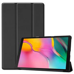 Samsung tab cases en Ligne-Pour Samsung Galaxy Tab A 2019 SM-T510 / T515 S5e T720 T583 T590 P200 coque Etui cuir Magnétique à trois volets Tablette Pour iPad mini 5