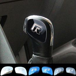 vw jetta gear Desconto Jameo Auto 2 Pcs Aço Inoxidável Engrenagem Do Carro Head Shift Knob Guarnição Etiqueta para VW Golf 6 7 R GTI Passat B7 CC R20 Jetta MK6 Tiguan