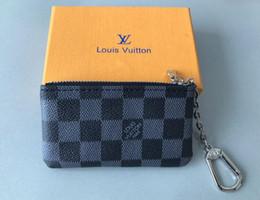 4 couleur KEY POUCH Damier en cuir tient de haute qualité célèbre designer classique femmes porte-clés porte-monnaie petit cuir porte-clés ? partir de fabricateur