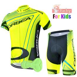 camisas de ciclismo orbea Desconto Orbea equipe de verão crianças ciclismo jersey set meninos conjuntos de roupas de bicicleta shorts crianças bicicleta ropa ciclismo / respirável e de secagem rápida